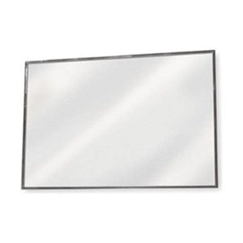 flat bathroom mirror frameless flat mirror 36 x 72 in h glass mounted