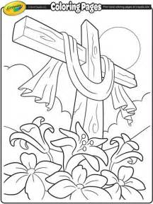 Free Easter Cross Coloring Pages sketch template