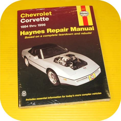 repair manual book chevy corvette 84 96 l98 lt1 c4 shop ebay
