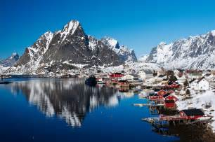 Fishing Wall Murals view of village of reine in moskenes in lofoten islands in