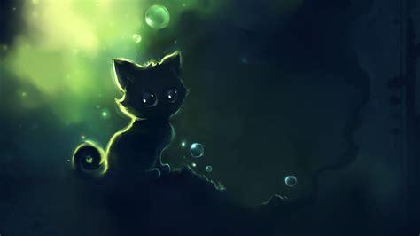dark wallpaper anime cat   wallpaper hd