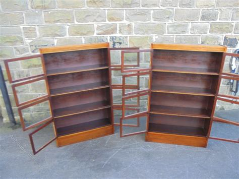 section 263 a pair antique mahogany sectional library bookcases