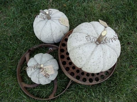 concrete pumpkins pumpkins gourds and bittersweet oh