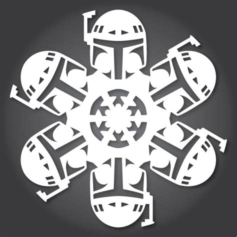 how to make star wars snowflakes with paper scissors and