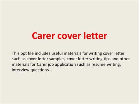 carer cover letter carer cover letter