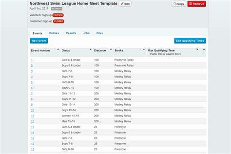 Summer Swim Leagues Benefit From League Management Features Swim Team Website Templates