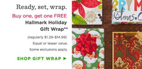 hallmark 5 10 coupon bogo gift wrap cards - Gift Wrap Promo Code
