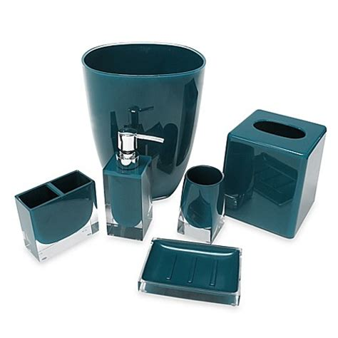 memphis bath accessory collection in teal bed bath beyond
