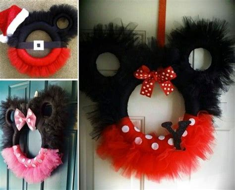 diy corona navide a de mickey mouse mickey s christmas wreath m 225 s de 25 ideas incre 237 bles sobre corona de mickey mouse en