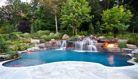 Backyard Pools Nj Backyard Swimming Pool Waterfall Design Bergen County Nj