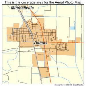 aerial photography map of dumas ar arkansas