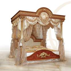 Wooden Canopy Bed Luxurious Bed With Canopy Solid Carved Wood Idfdesign