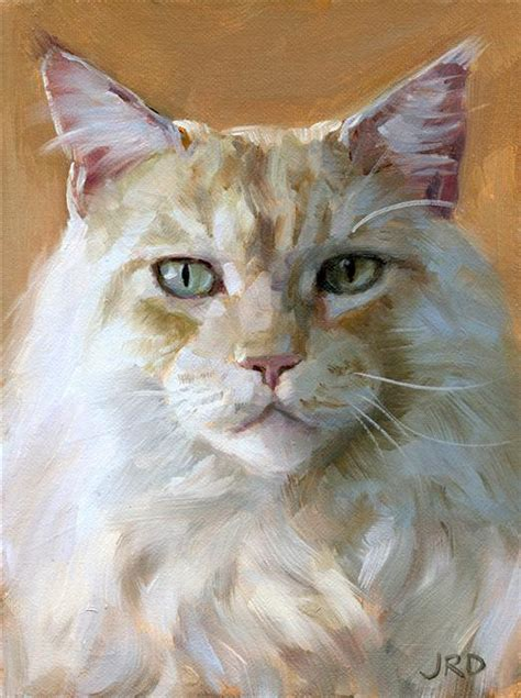 painting for cats buy original by j dunster painting big white