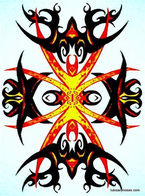 desain kaos ethnic desain gambar khas etnik dayak untuk sablon t shirt