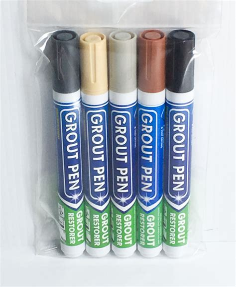 grout pen colors grout pens 5 pack of custom colours 5mm bullet nib