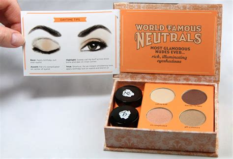 eyeshadow tutorial benefit review swatches benefit world famous neutrals palette