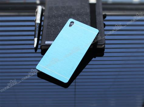 Sony Xperia Z2 Motomo motomo sony xperia z2 metal mavi rubber k箟l箟f stoktan teslim
