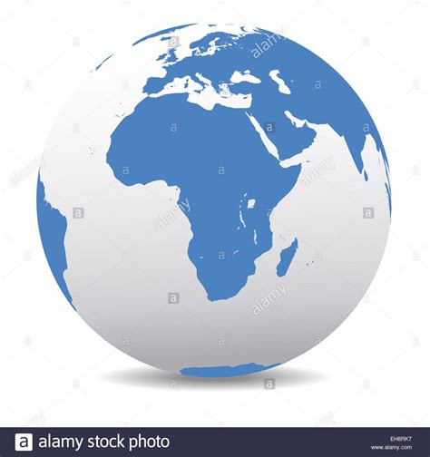 africa map globe africa map icon of the world globe stock photo royalty