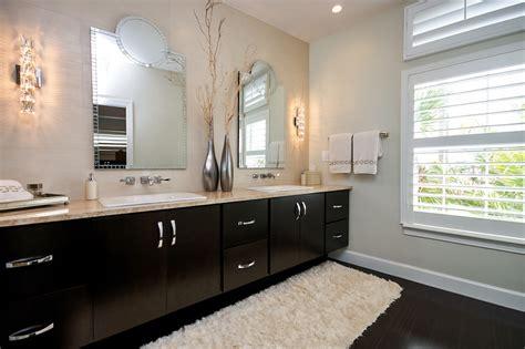 bathroom cabinets dark wood with contemporary baseboard