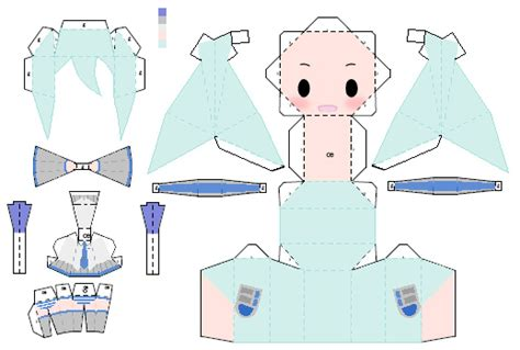 Miku Papercraft - chibi snow miku papercraft by nintennerd on deviantart