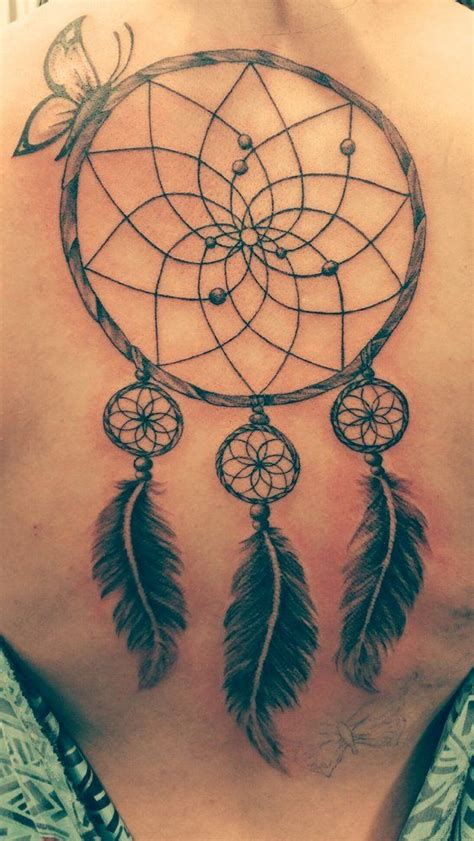 dreamcatcher tattoos on back best 25 dreamcatcher back ideas on
