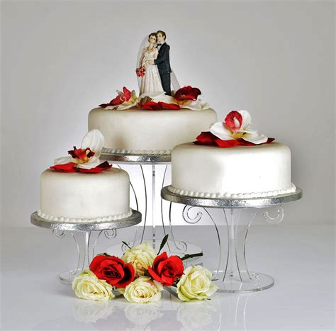 Wedding Cakes Stands by Scroll Design Clear Acrylic Wedding Cake Stand