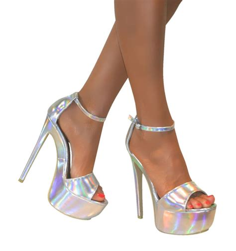 stiletto sandals womens peep toe ankle platform stiletto high