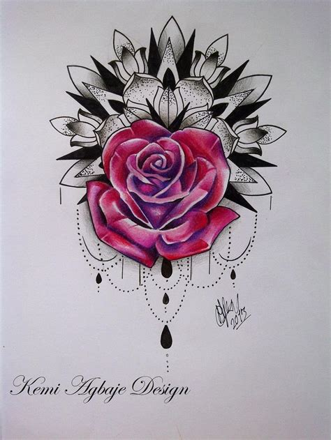 flower and rose tattoo designs mandala sleeves jess