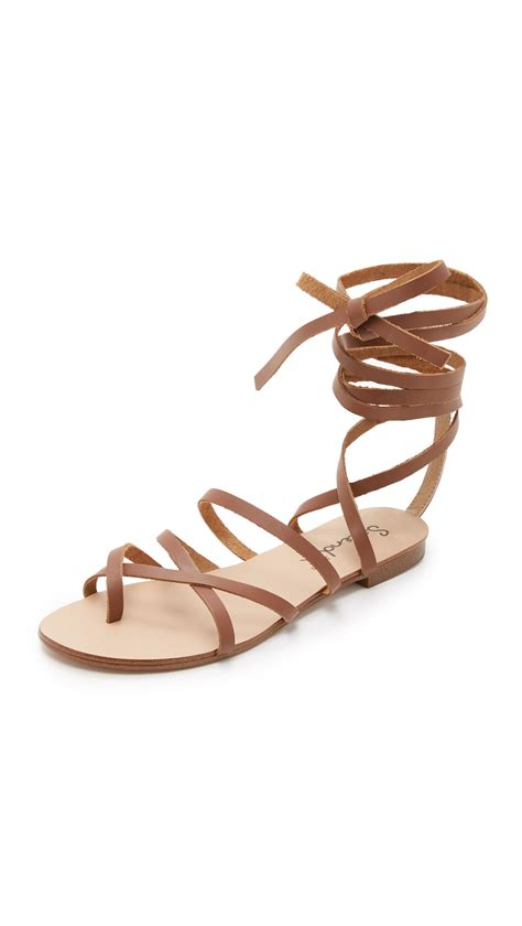 brown lace up sandals splendid lace up sandals in brown lyst