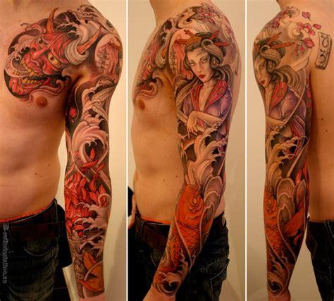 oriental tattoo half sleeve asian half sleeve tattoo designs tumblr