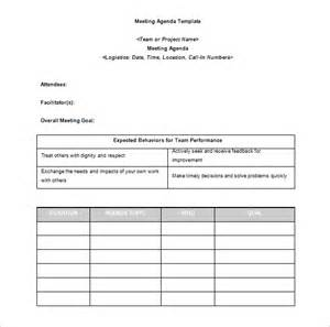Manager Meeting Agenda Template by Agenda Template 24 Free Word Excel Pdf Documents
