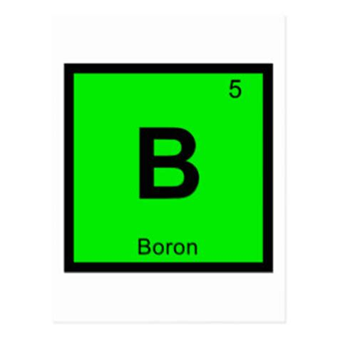 Boron Periodic Table by Boron Cards Zazzle