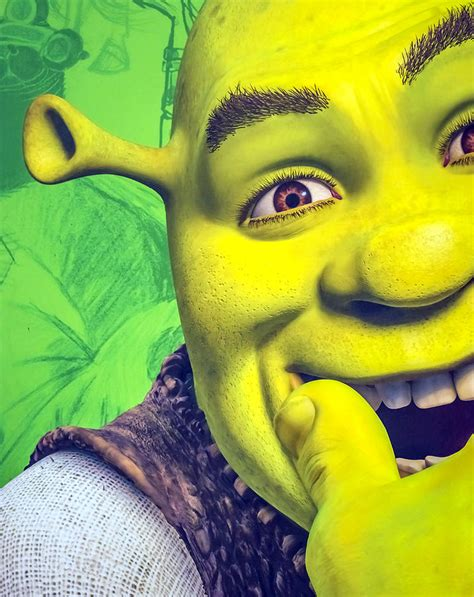 free shrek painting shrek photograph by jijo george