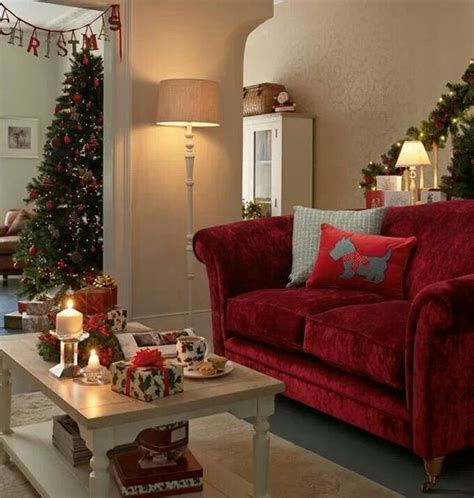 laura ashley red sofa laura ashley red sofa cristmas living room so cute and cosy