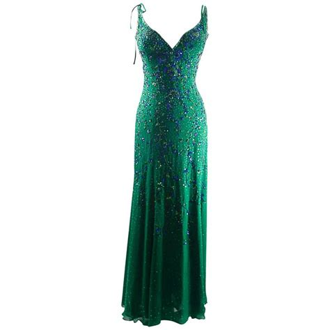vintage beaded cocktail dress escada vintage mermaid silk beaded evening dress gowm at