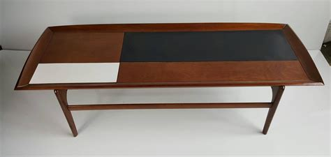 Stunning Modernist Coffee Table Walnut Black And White White Laminate Coffee Table