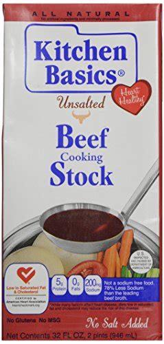 kitchen basics unsalted beef stock 32 oz grocery fine hub