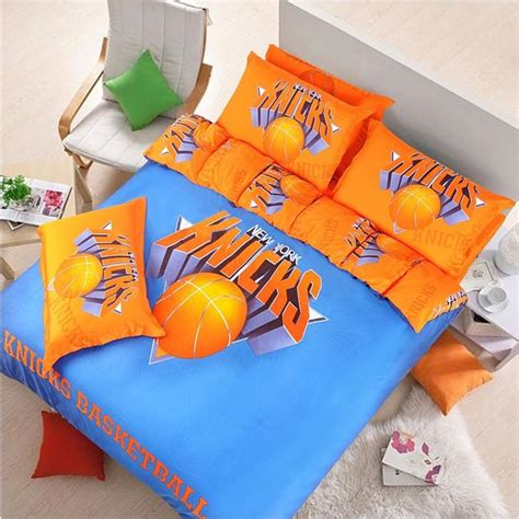 knicks bedroom new york knicks basketball bedding set 100 cotton 4pcs york bed sets and products