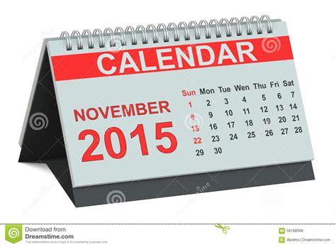 november 2015 desk calendar stock illustration image