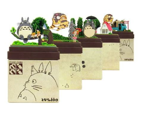 Ghibli Papercraft - studio ghibli mini paper craft kit my totoro 04