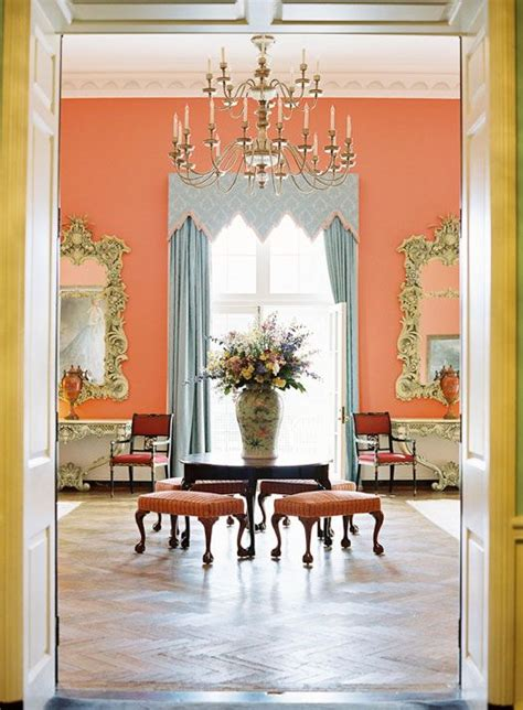 peach walls what color curtains opulent coral foyer coral beauty pinterest resorts