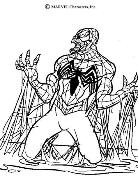 venom coloring pages hellokids com