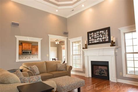 most popular paint colors for living room walls decor family room behr perfect taupe so chris and i may have