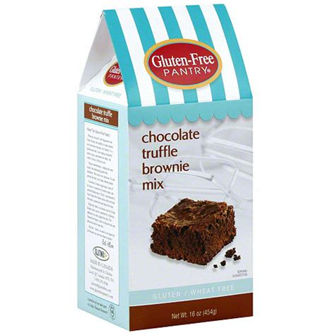 gluten free pantry chocolate truffle brownie mix 16 oz
