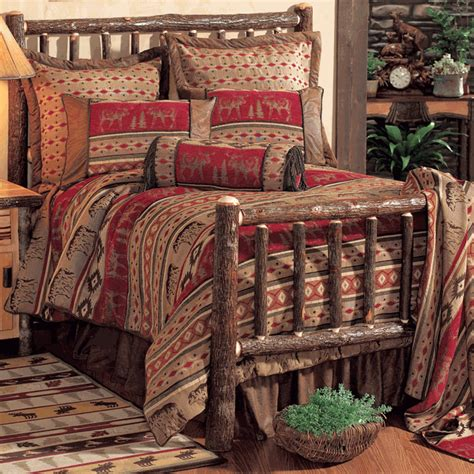 Rustic Comforter Sets King by Rustic Bedding King Size Adirondack Bed Set Black Forest