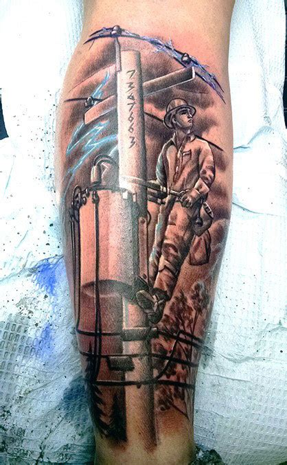 lineman tattoo 50 lineman tattoos for electrical design ideas