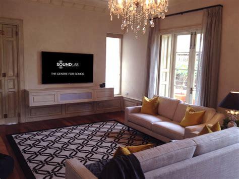 sonos rooms sonos playbar home theatre by soundlab subiaco mediterranean family room perth by