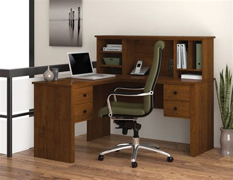 l desk with bestar somerville l desk with hutch