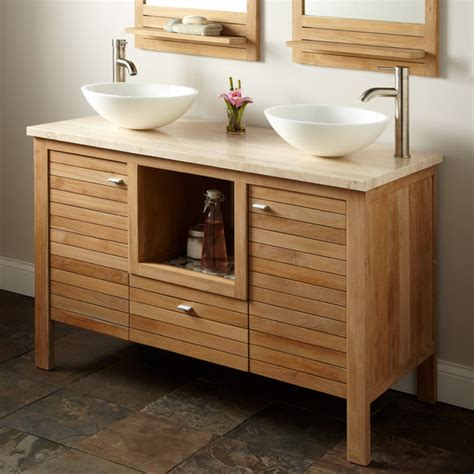 Bathroom Vanities Cincinnati Durable Chic Teak Contemporary Bathroom Vanities And Sink Consoles