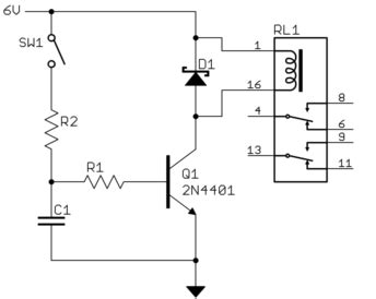 how to use a capacitor as a timer relay how can i add a power delay to this circuit electrical engineering stack exchange